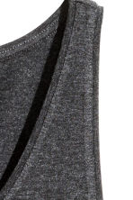 Jersey vest top - Dark grey marl - Ladies | H&M 3