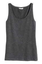 Jersey vest top - Dark grey marl - Ladies | H&M 2