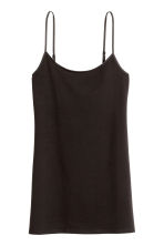 Long jersey strappy top - Black - Ladies | H&M GB 2