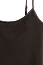 Long jersey strappy top - Black - Ladies | H&M GB 3