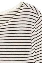 Long-sleeved jersey top - Natural white/Striped - Ladies | H&M GB 3