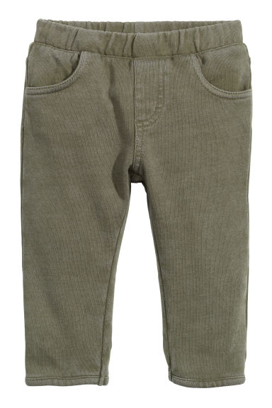 Cotton jeggings - Khaki green - Kids | H&M CN 1