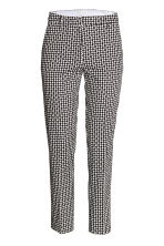 Trousers - Black/Patterned - Ladies | H&M CN 2