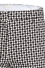 Trousers - Black/Patterned - Ladies | H&M CN 3