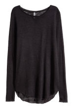 Fine-knit jumper - Black -  | H&M CN 2