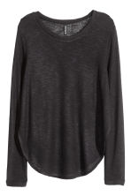 Fine-knit jumper - Black - Ladies | H&M 2