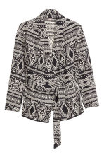 H&M+ Jacquard-weave jacket - Black/Patterned - Ladies | H&M CN 2