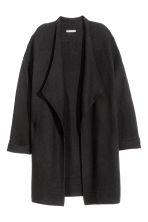 Textured-knit cardigan - Black -  | H&M CN 2