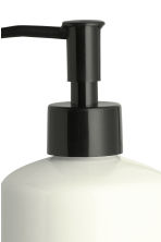 Stoneware soap dispenser - White/Text - Home All | H&M CN 3