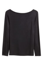 Boat-neck top - Black - Ladies | H&M 2