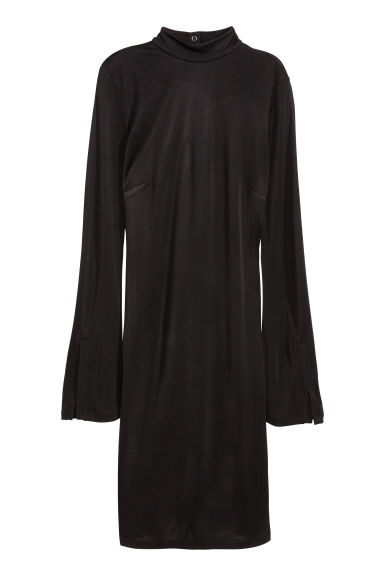 Black dress in h m - Turtleneck Jersey Dress Black Ladies H M