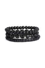 3-pack bracelets - Black - Men | H&M 1