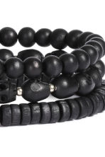 3-pack bracelets - Black - Men | H&M 2