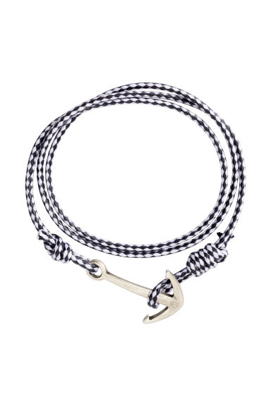 Braided bracelet - Dark blue/White - Men | H&M CA 1