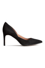 Suede court shoes - Black - Ladies | H&M CN 2