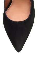 Suede court shoes - Black - Ladies | H&M CN 4