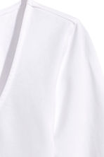 Jersey top - White -  | H&M 3