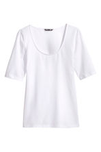 Jersey top - White -  | H&M 2