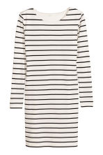 Jersey dress - White/Striped - Ladies | H&M CN 2