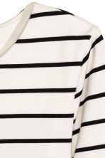Jersey dress - White/Striped - Ladies | H&M CN 3