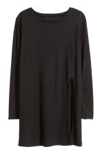 Jersey top with a slit - Black - Ladies | H&M CN 2