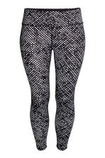 H&M+ Sports tights - Black/Spotted - Ladies | H&M CN 2