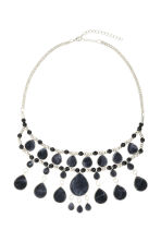 Short necklace with pendants - Silver/Black - Ladies | H&M CN 1