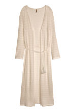 Long lace cardigan - Light beige - Ladies | H&M CN 2