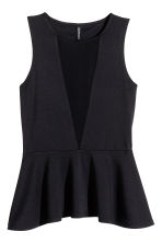 Sleeveless peplum top - Black - Ladies | H&M CN 2