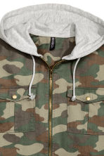 Flannel shirt with a hood - Khaki green - Ladies | H&M CN 3