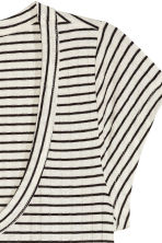 Ribbed jersey top - Natural white/Striped - Ladies | H&M CN 3