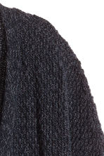 Cardigan in a cotton blend - Black marl -  | H&M CN 3