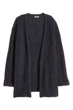 Cardigan in a cotton blend - Black marl -  | H&M CN 2