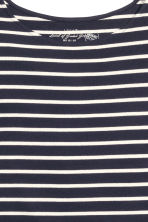 Striped jersey top - Dark blue/Striped - Ladies | H&M GB 3