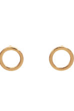 2 pairs gold-plated earrings - Gold - Ladies | H&M CN 2