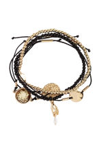 5-pack bracelets - Black/Gold - Ladies | H&M 1