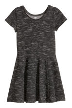 Jersey dress - Black marl - Kids | H&M GB 2