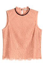 Sleeveless lace blouse - Apricot - Ladies | H&M CN 2