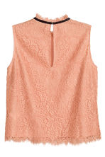 Sleeveless lace blouse - Apricot - Ladies | H&M CN 3