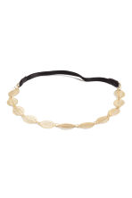 Hairband with metal leaves - Gold - Ladies | H&M CN 1