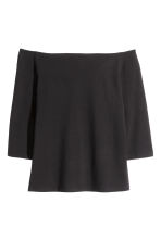 H&M+ Off-the-shoulder top - Black - Ladies | H&M CN 2