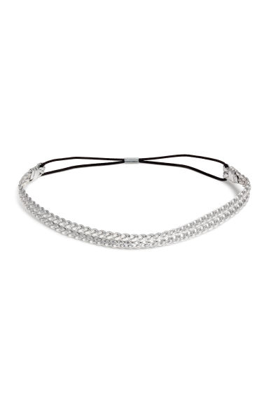 Braided hairband - Silver - Ladies | H&M CN 1