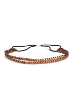 Braided hairband - Copper - Ladies | H&M CN 1