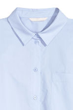 Wide blouse with a frill - Light blue - Ladies | H&M GB 4