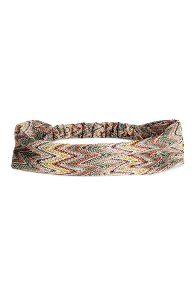 Fine-knit hairband - Yellow/Patterned - Ladies | H&M CN 1
