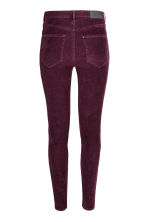 Corduroy trousers Super skinny - Burgundy - Ladies | H&M CN 3