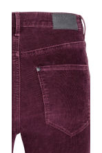 Corduroy trousers Super skinny - Burgundy - Ladies | H&M CN 4