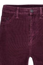 Corduroy trousers Super skinny - Burgundy - Ladies | H&M CN 5