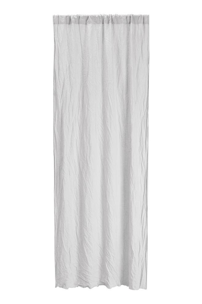 Set van 2 linnen gordijnen - Lichtgrijs - HOME | H&M BE