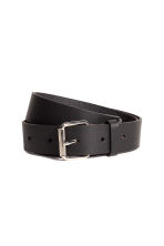 Leather belt - Black - Ladies | H&M CN 4